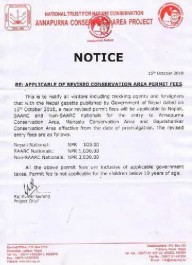 Непал повыcил плату за вход на территории парков