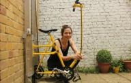 Вертикальный велосипед вместо лифта и лестниц