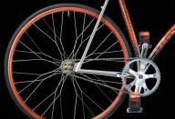 Велосипед фикс из кожи крокодила