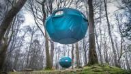 В парке Lake District создали палаточный городок на деревьях