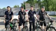 Под Киевом полицейские пересели на велосипеды