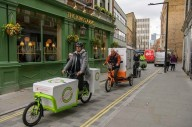 Доставка грузов на велосипеде в Лондоне