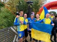 Украинские раненые военные пробежали марафон в США