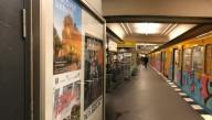 В берлинском метро появились плакаты с городами Украины