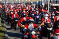 Мотопробег Деды Морозы на мотоциклах в Польше