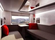 В Австрии представили интерьер спальных вагонов поезда