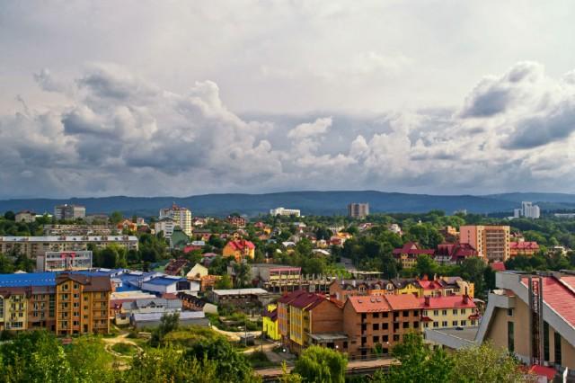 вид с вершины город Трускавец