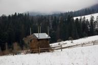 Пейзажі початку зими на полонині Кукул