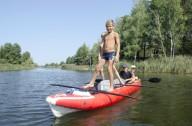 На байдарках Альфа-Зет по обводному каналу Киевского моря
